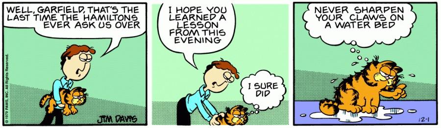 Оригинал комикса про Гарфилда от 01 декабря 1979 года