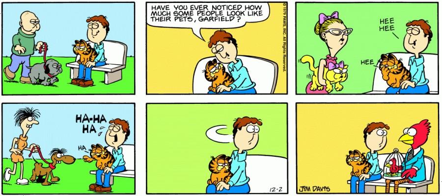 Оригинал комикса про Гарфилда от 02 декабря 1979 года