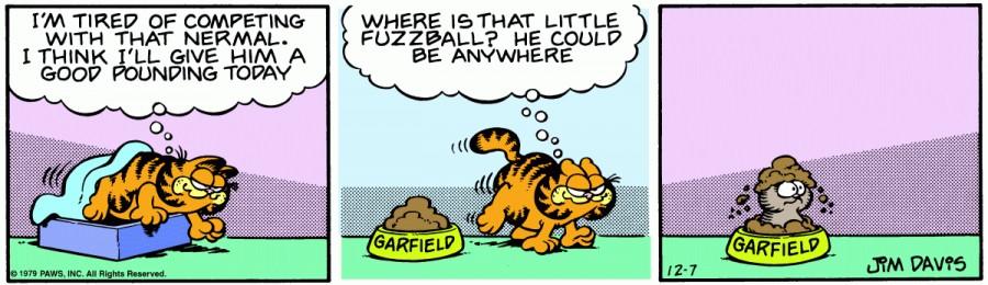 Оригинал комикса про Гарфилда от 07 декабря 1979 года