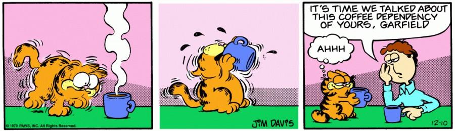 Оригинал комикса про Гарфилда от 10 декабря 1979 года