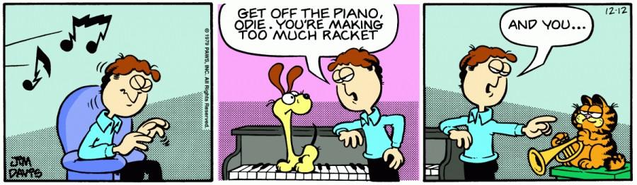 Оригинал комикса про Гарфилда от 12 декабря 1979 года