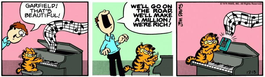 Оригинал комикса про Гарфилда от 13 декабря 1979 года