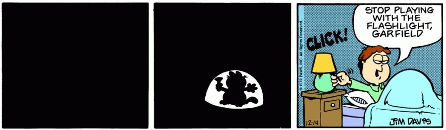 Оригинал комикса про Гарфилда от 14 декабря 1979 года