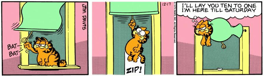 Оригинал комикса про Гарфилда от 17 декабря 1979 года