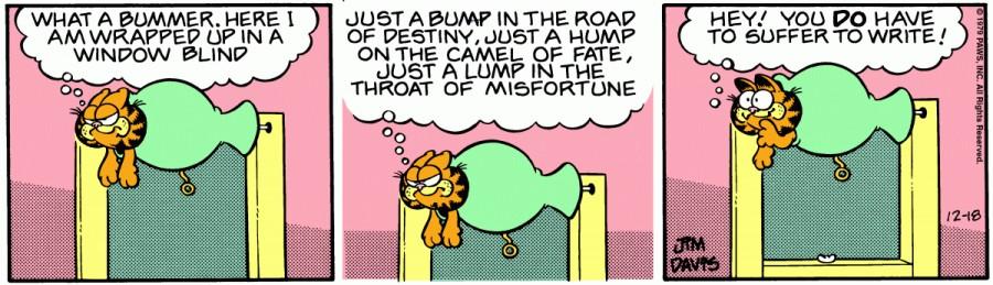 Оригинал комикса про Гарфилда от 18 декабря 1979 года
