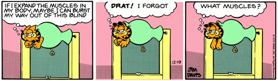 Оригинал комикса про Гарфилда от 19 декабря 1979 года