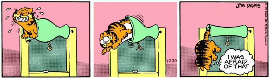 Оригинал комикса про Гарфилда от 20 декабря 1979 года