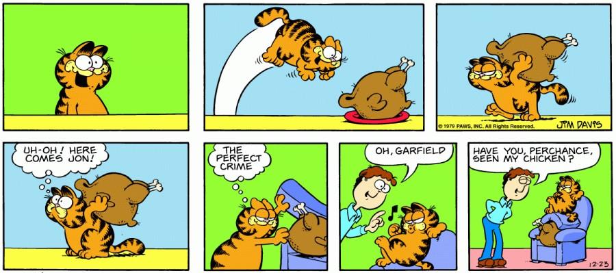 Оригинал комикса про Гарфилда от 23 декабря 1979 года
