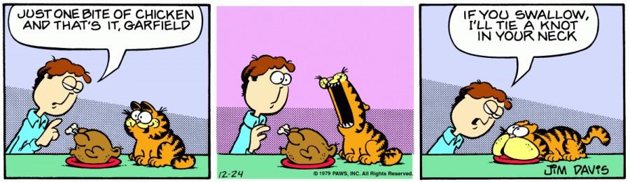 Оригинал комикса про Гарфилда от 24 декабря 1979 года