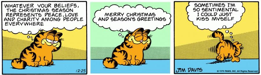 Оригинал комикса про Гарфилда от 25 декабря 1979 года