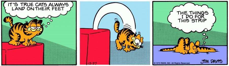 Оригинал комикса про Гарфилда от 27 декабря 1979 года