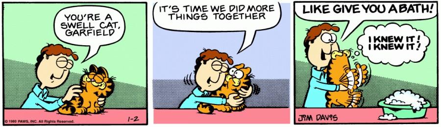 Оригинал комикса про Гарфилда от 02 января 1980 года