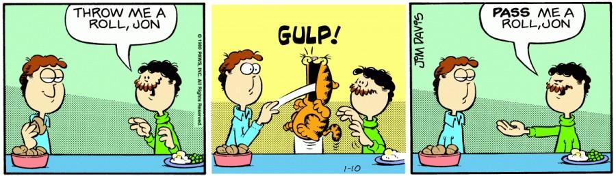 Оригинал комикса про Гарфилда от 10 января 1980 года