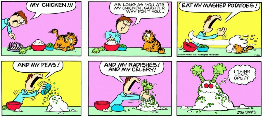 Оригинал комикса про Гарфилда от 20 января 1980 года