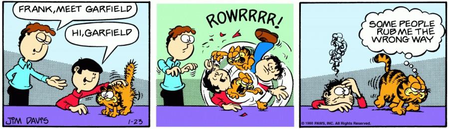 Оригинал комикса про Гарфилда от 23 января 1980 года
