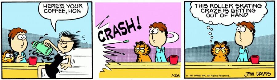 Оригинал комикса про Гарфилда от 26 января 1980 года