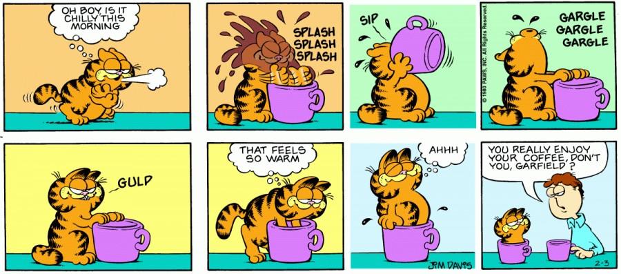Оригинал комикса про Гарфилда от 03 февраля 1980 года