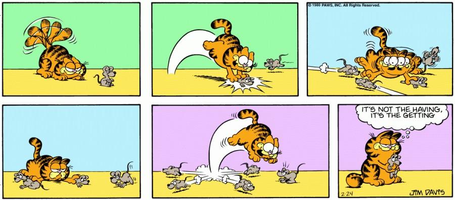 Оригинал комикса про Гарфилда от 24 февраля 1980 года