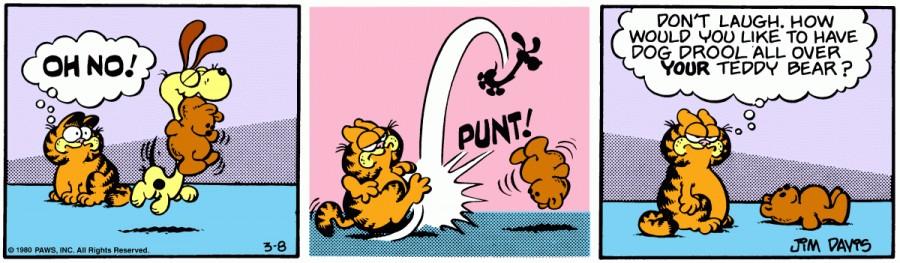 Оригинал комикса про Гарфилда от 08 марта 1980 года
