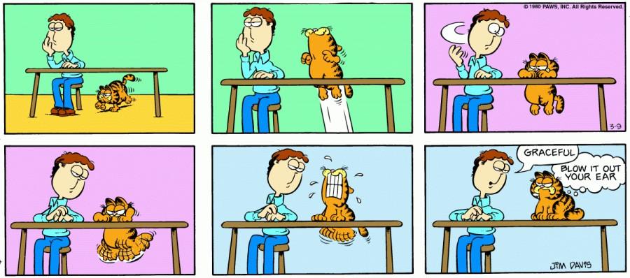 Оригинал комикса про Гарфилда от 09 марта 1980 года