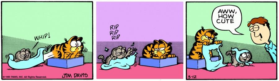 Оригинал комикса про Гарфилда от 12 марта 1980 года