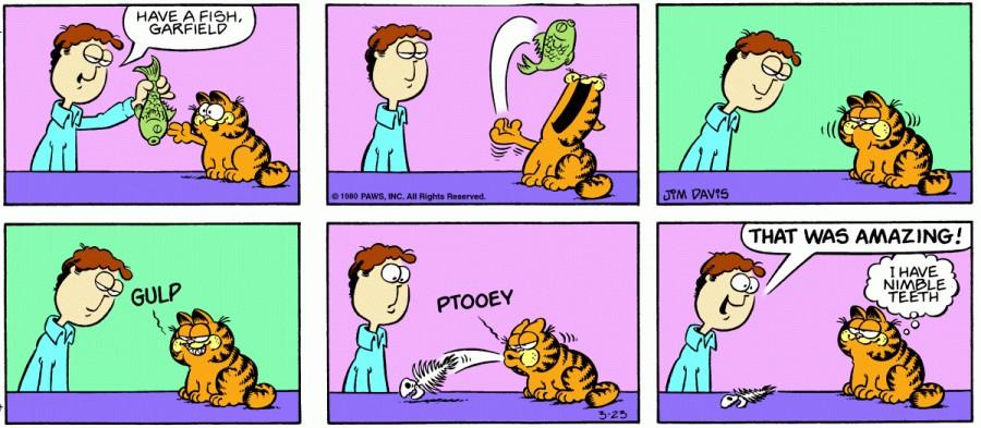 Оригинал комикса про Гарфилда от 23 марта 1980 года