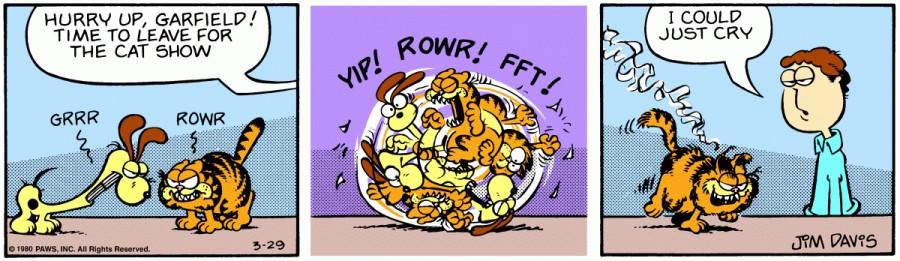 Оригинал комикса про Гарфилда от 29 марта 1980 года