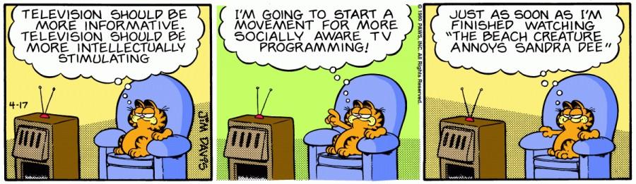 Оригинал комикса про Гарфилда от 17 апреля 1980 года