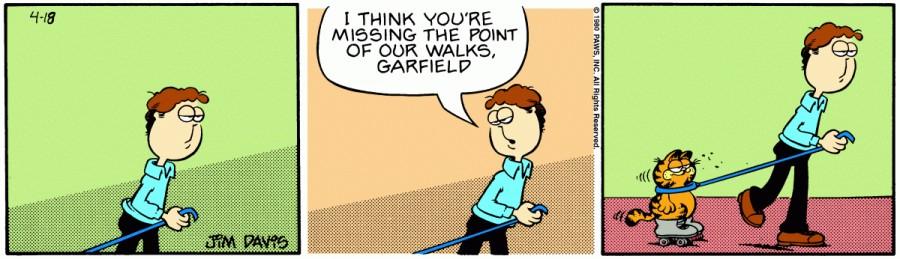 Оригинал комикса про Гарфилда от 18 апреля 1980 года