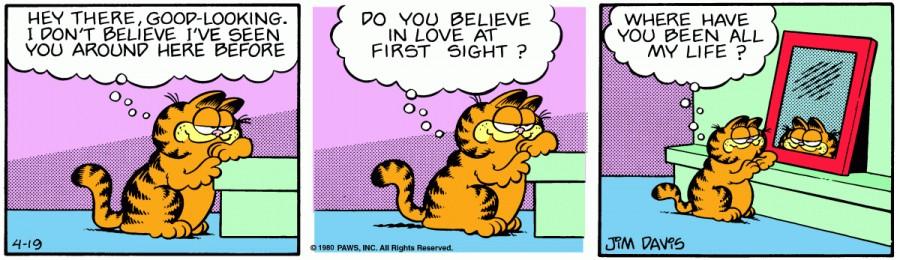 Оригинал комикса про Гарфилда от 19 апреля 1980 года