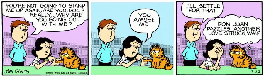 Оригинал комикса про Гарфилда от 22 апреля 1980 года
