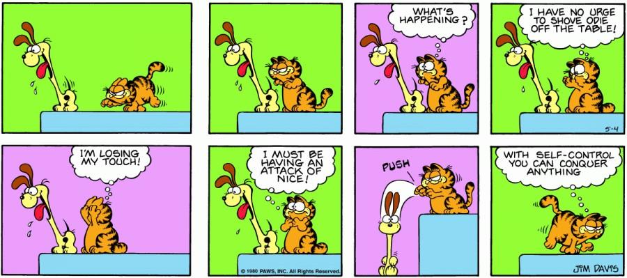 Оригинал комикса про Гарфилда от 04 мая 1980 года