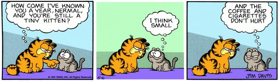 Оригинал комикса про Гарфилда от 06 мая 1980 года