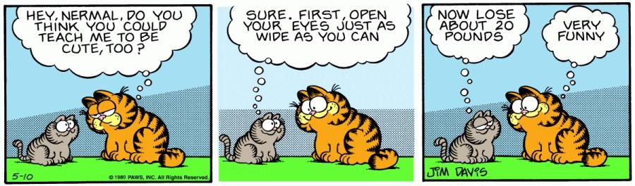 Оригинал комикса про Гарфилда от 10 мая 1980 года