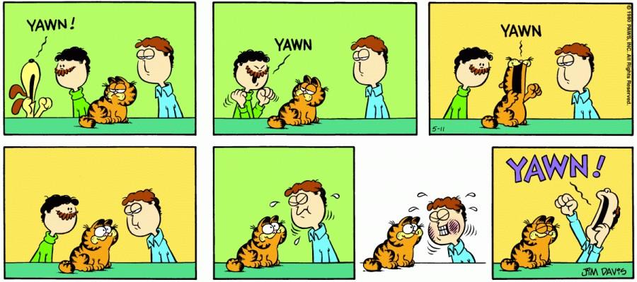 Оригинал комикса про Гарфилда от 11 мая 1980 года
