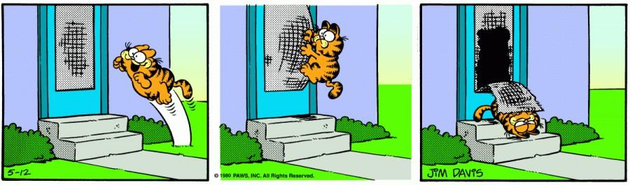 Оригинал комикса про Гарфилда от 12 мая 1980 года