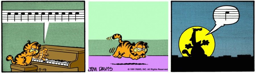 Оригинал комикса про Гарфилда от 19 мая 1980 года