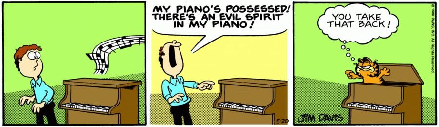 Оригинал комикса про Гарфилда от 20 мая 1980 года