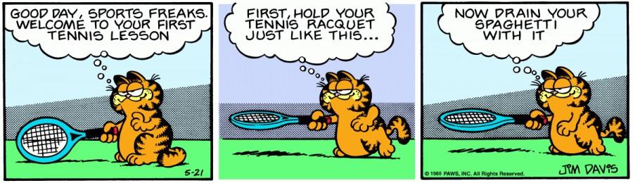 Оригинал комикса про Гарфилда от 21 мая 1980 года