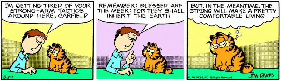 Оригинал комикса про Гарфилда от 24 мая 1980 года