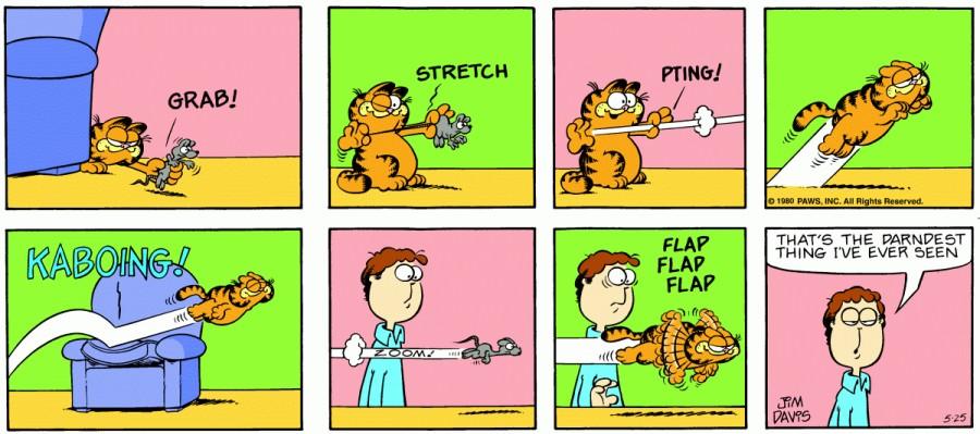 Оригинал комикса про Гарфилда от 25 мая 1980 года