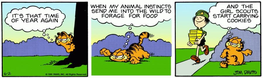 Оригинал комикса про Гарфилда от 02 июня 1980 года
