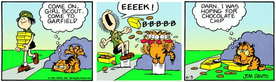 Оригинал комикса про Гарфилда от 03 июня 1980 года