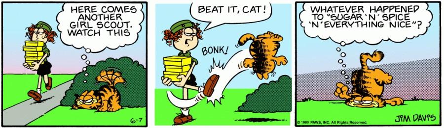 Оригинал комикса про Гарфилда от 07 июня 1980 года