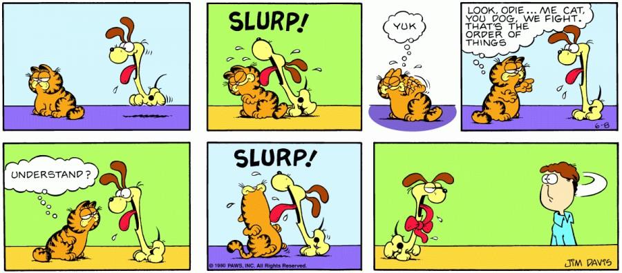 Оригинал комикса про Гарфилда от 08 июня 1980 года