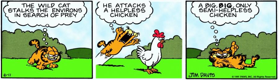 Оригинал комикса про Гарфилда от 11 июня 1980 года