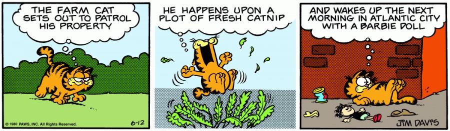 Оригинал комикса про Гарфилда от 12 июня 1980 года