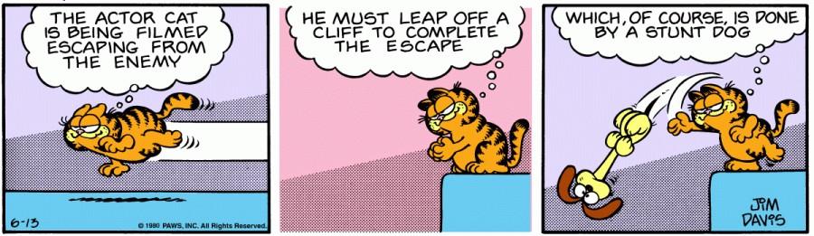 Оригинал комикса про Гарфилда от 13 июня 1980 года