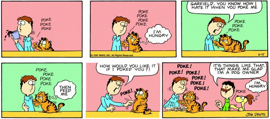 Оригинал комикса про Гарфилда от 15 июня 1980 года