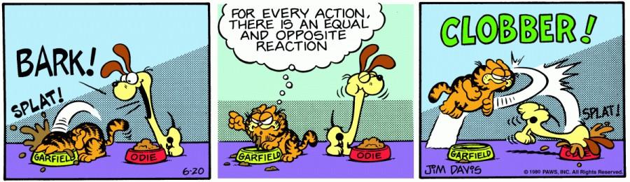 Оригинал комикса про Гарфилда от 20 июня 1980 года